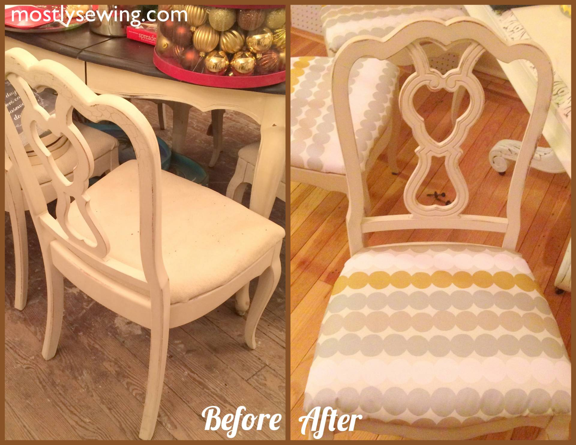 DIY chair recovering on MostlySewing.com