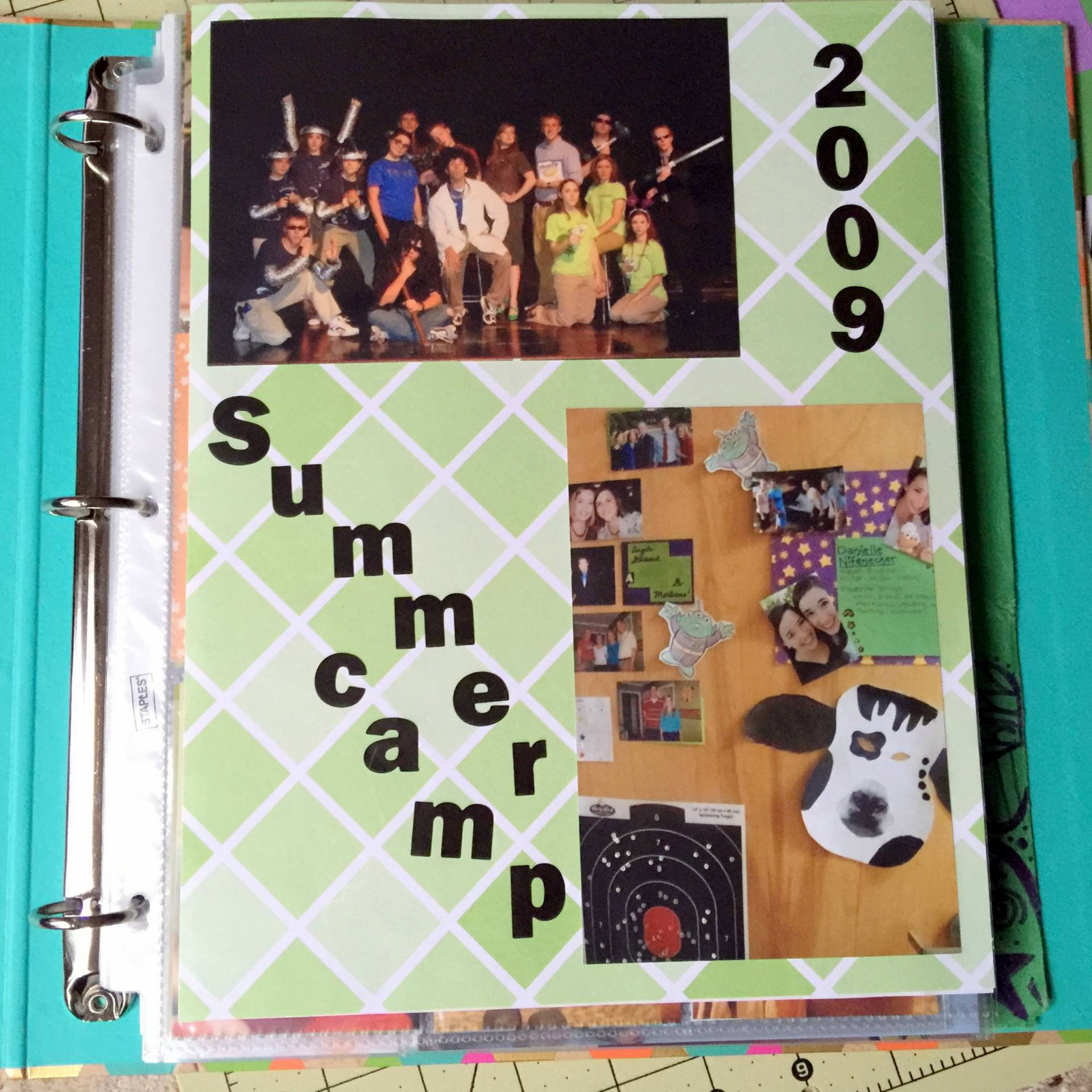 starting my college albums on MostlySewing.com