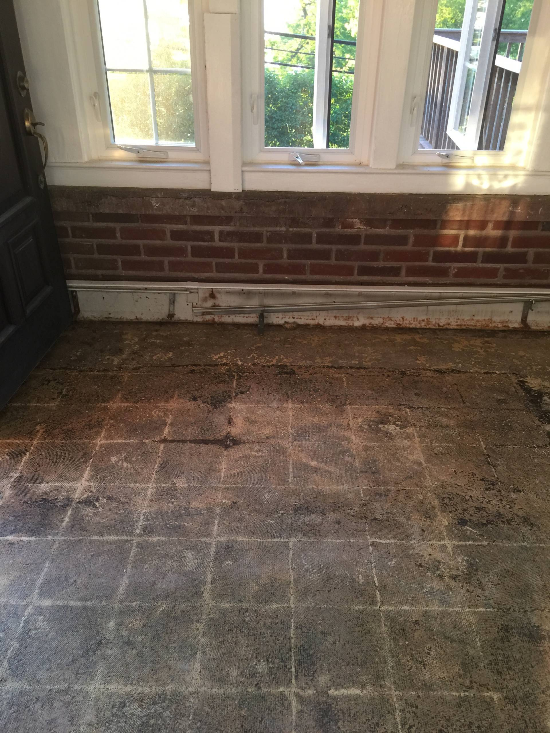 repairing my flooded entryway on MostlySewing.com