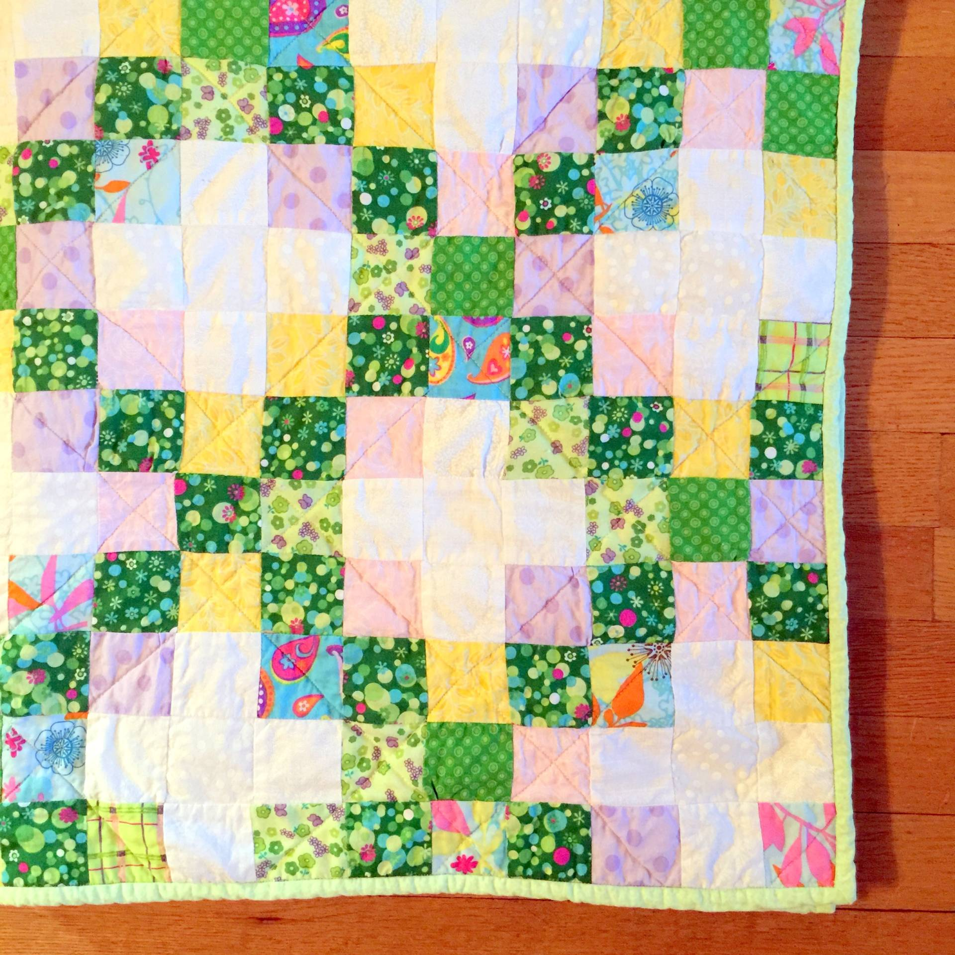modified irish chain quilt on MostlySewing.com