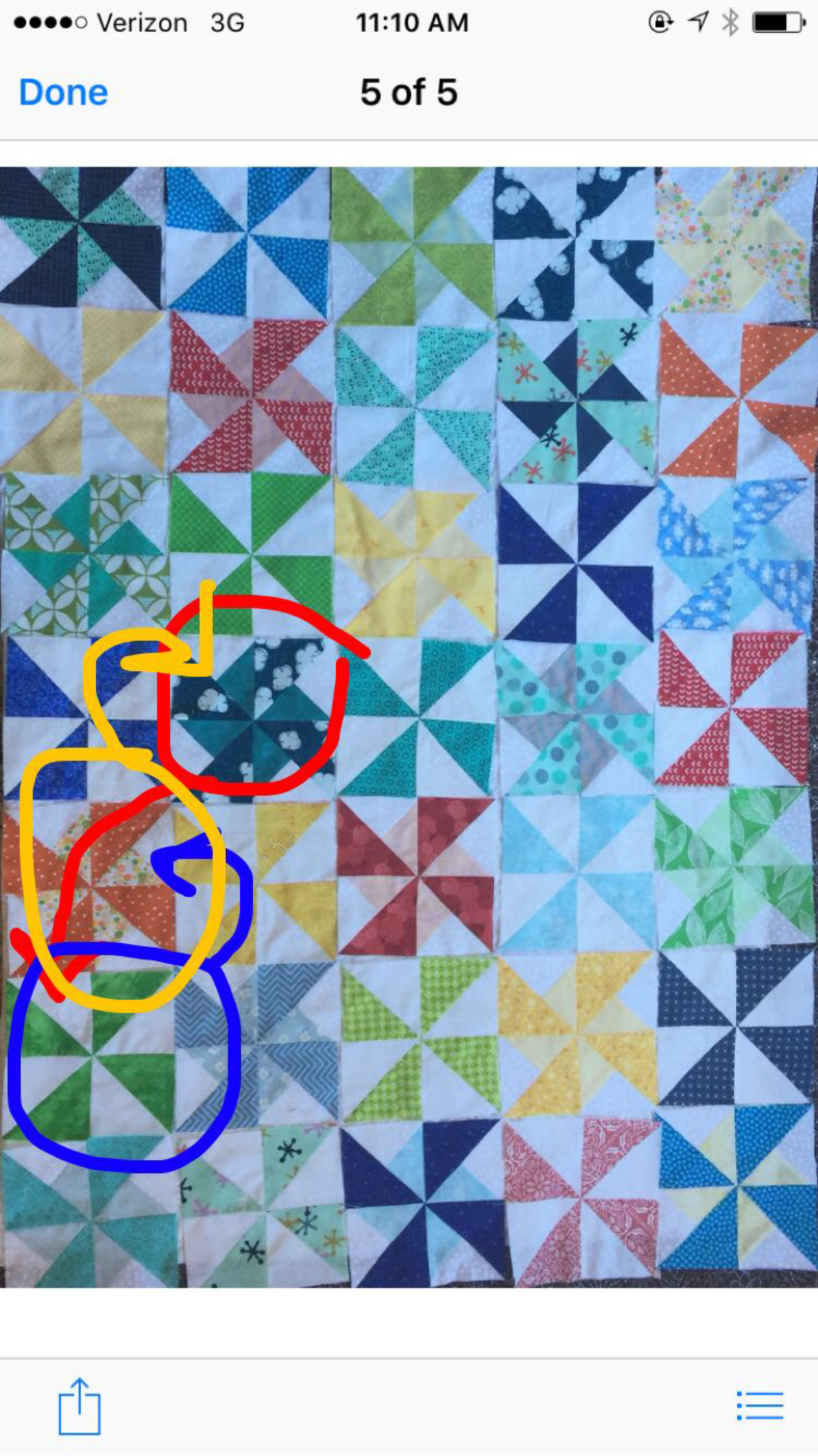 trying to decide on a quilt layout with snapchat haha