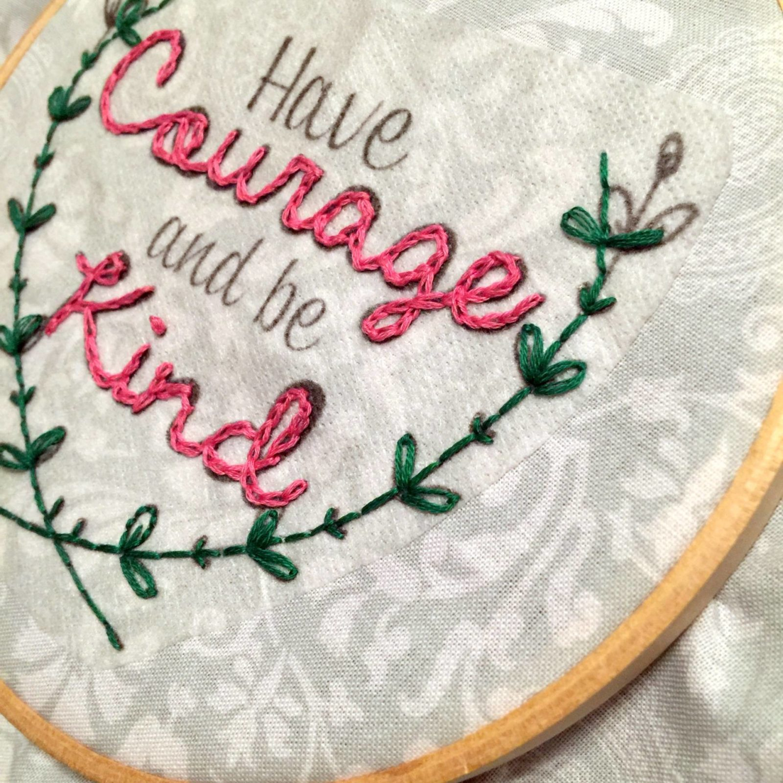 embroidery over the sulky paper