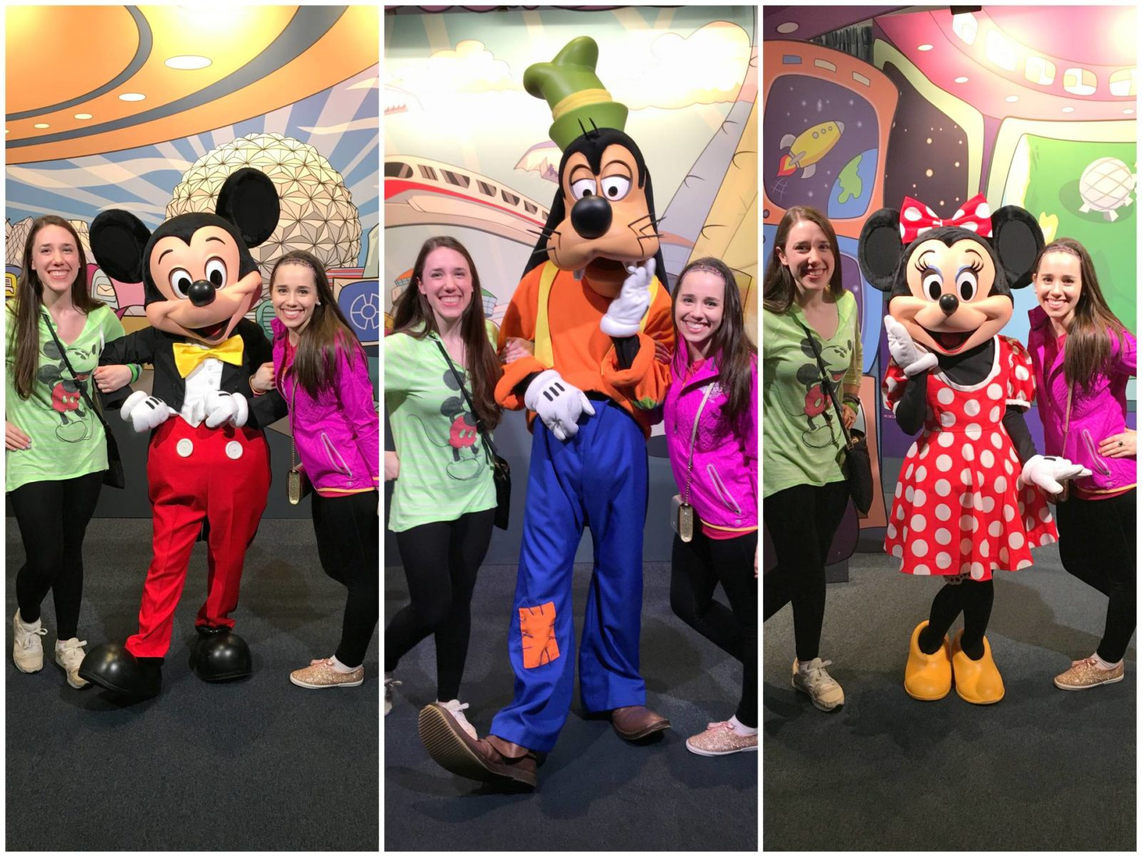 mickey goofy minnie character photos