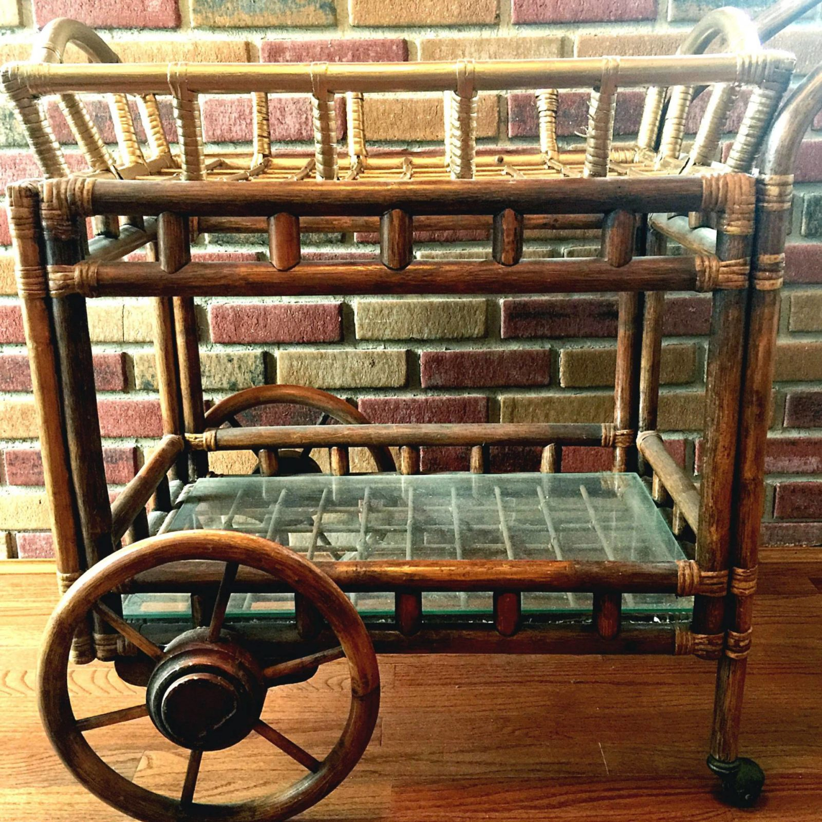 antique coffee cart to spray paint