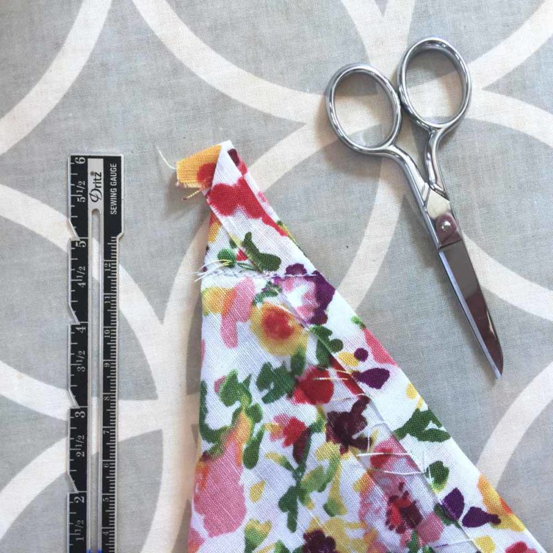 sew along the corner seam
