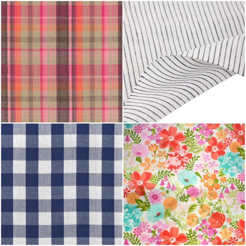 linens selections for sewing napkins