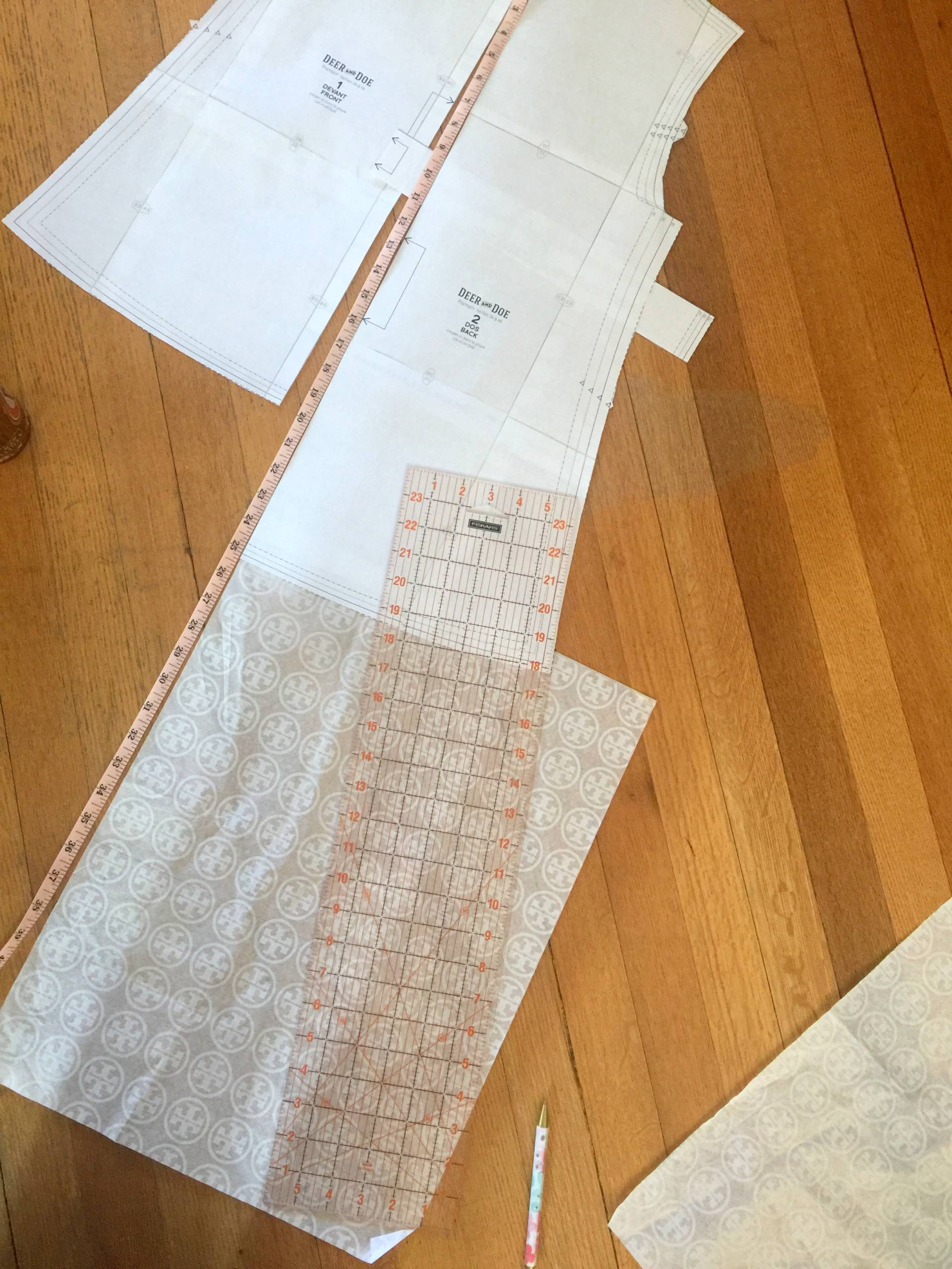 turning a tshirt pattern into a swing dress
