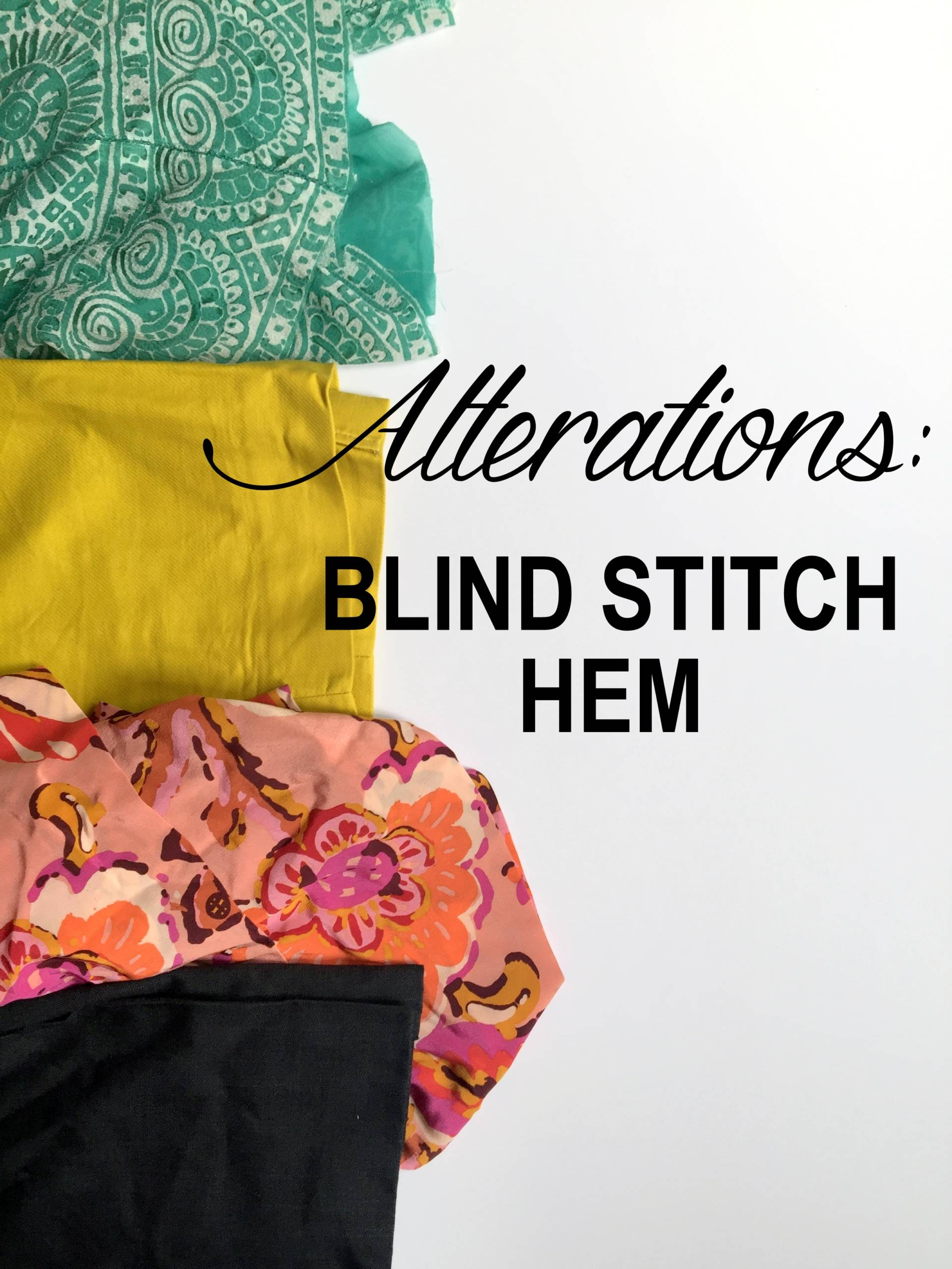 Common alterations using the blind stitch foot. This foot makes it super easy to hem everything!