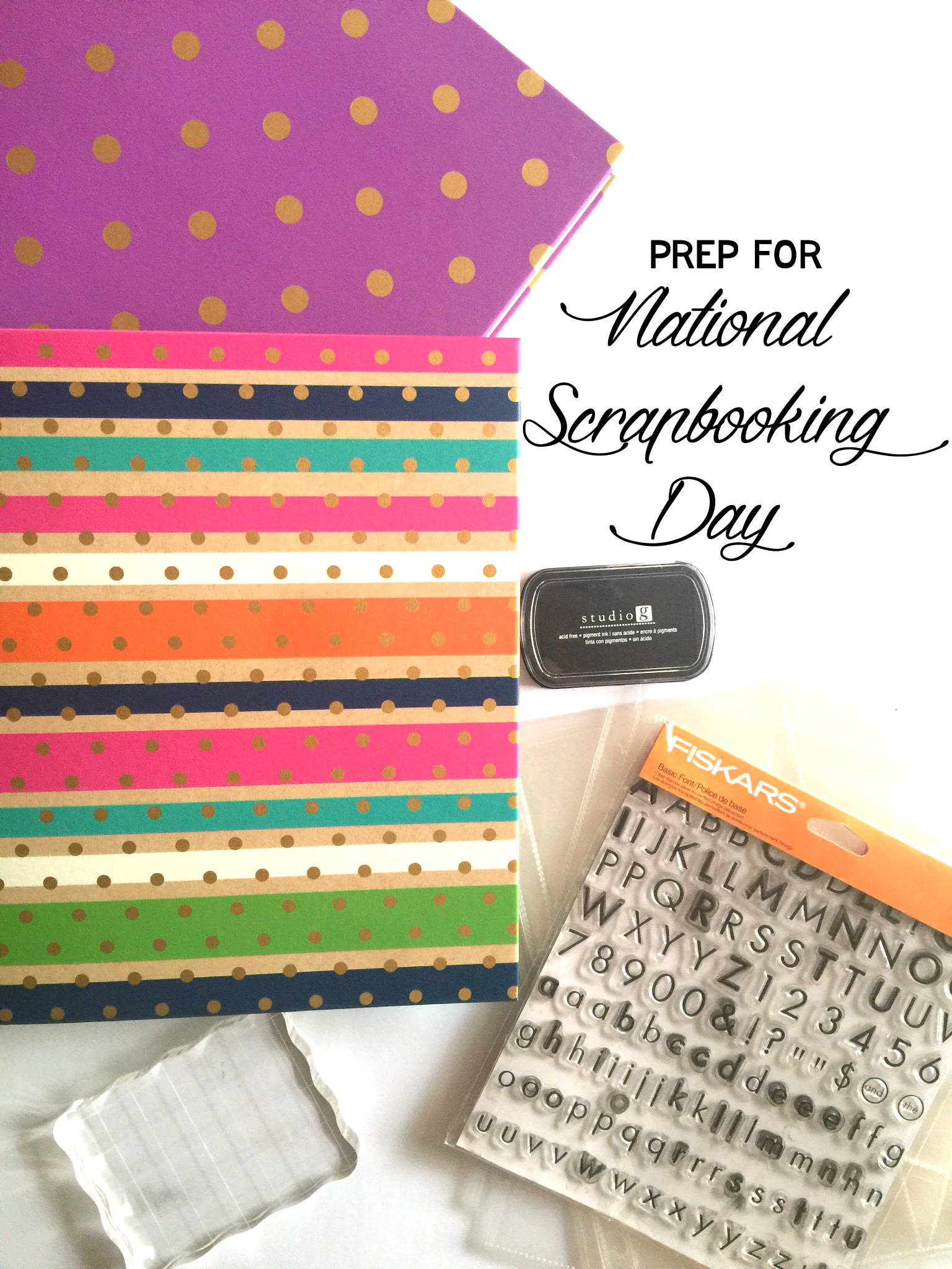 National Scrapbook Day is tomorrow, so here's a few perfect supplies for the holiday!