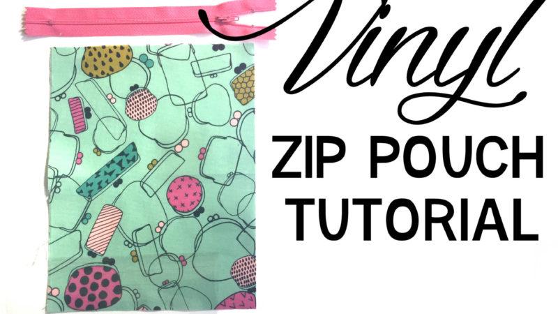Vinyl Zip Pouch