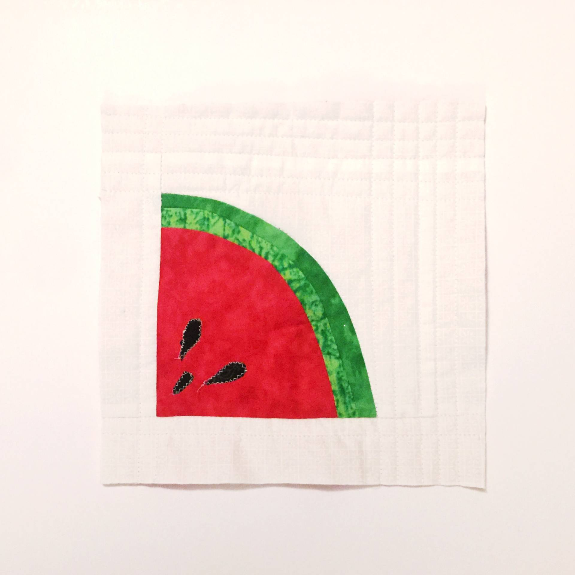 Watermelon mini quilted wall hanging