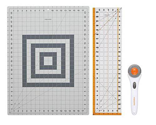 a sharp rotary cutter is essential for quilting projects. Buy the biggest mat your space allows!