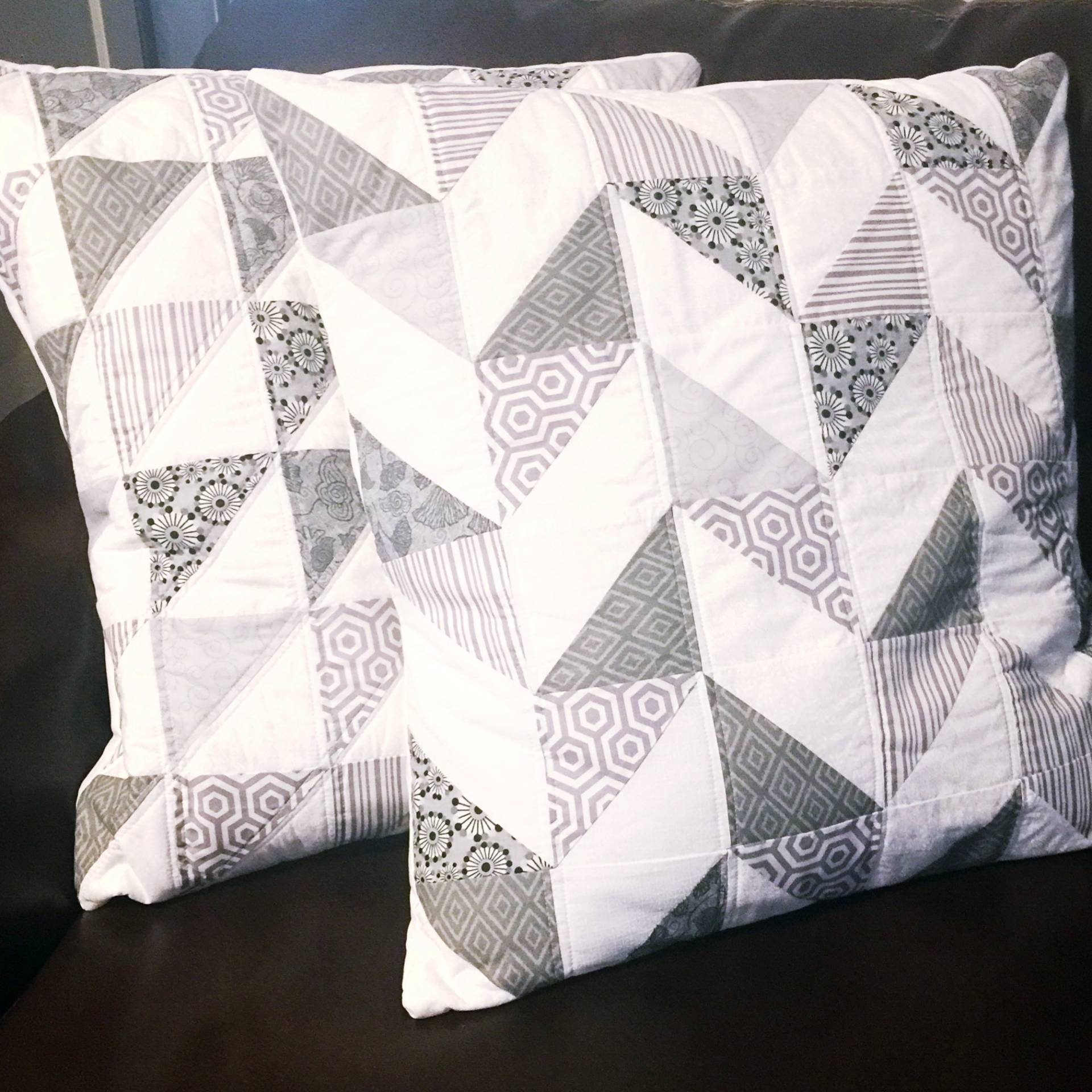 DIY Quilted Pillow Covers tutorial on MostlySewing.com : quilted pillow covers - Adamdwight.com