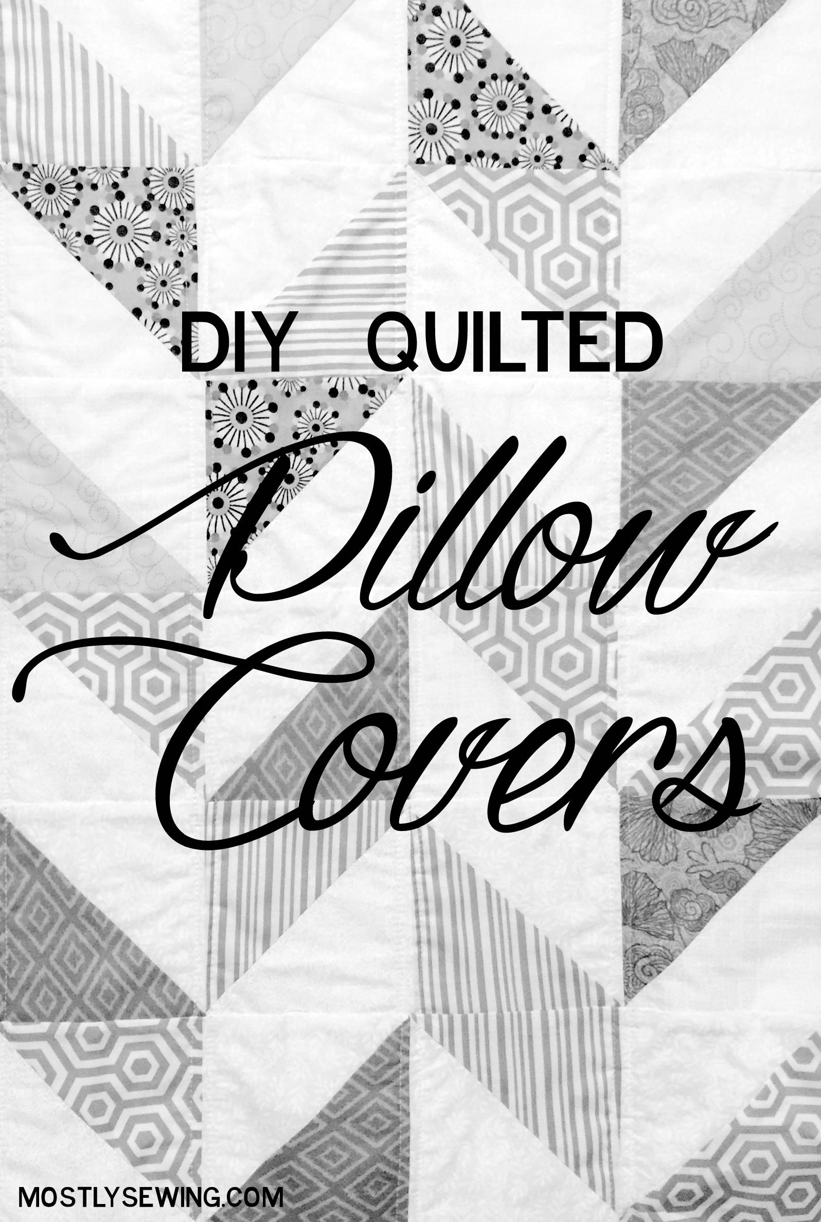 DIY Simple quilted pillow cover tutorial