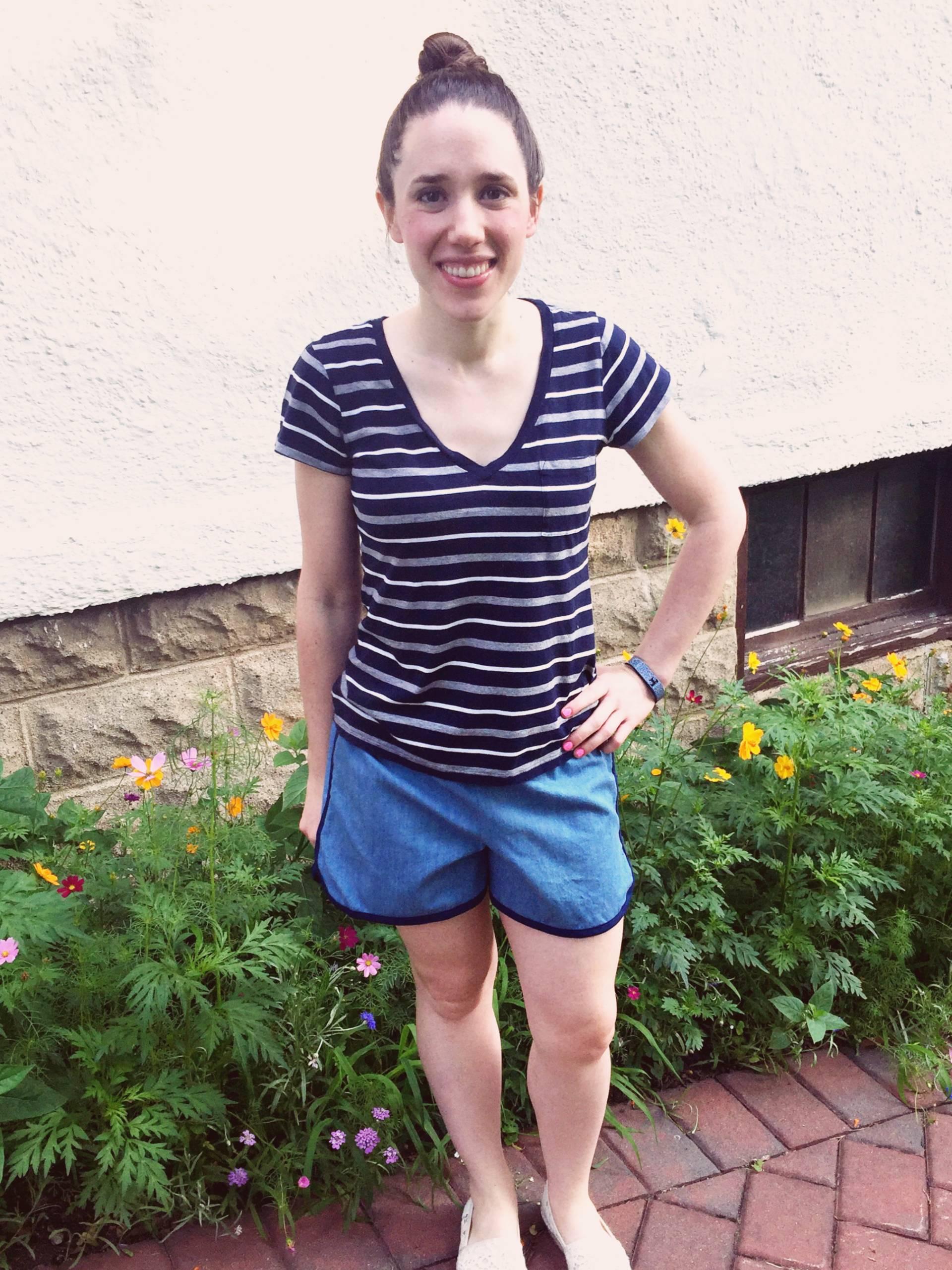 Lightweight Chambray city gym shorts