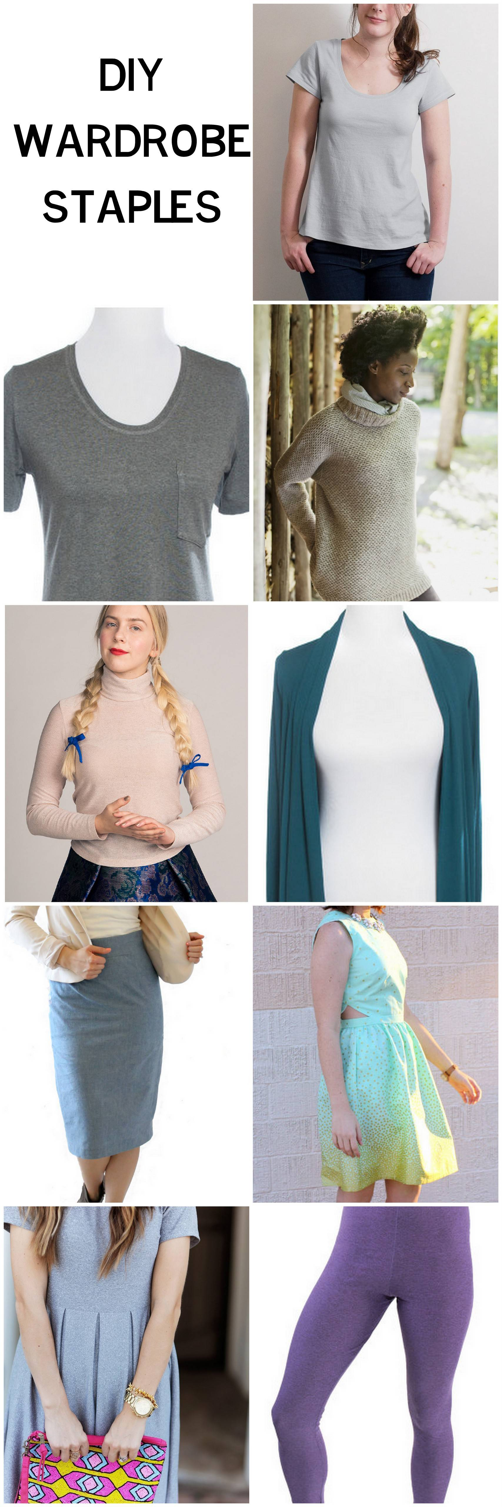 A Round Up of great wardrobe staples and the perfect sewing pattern