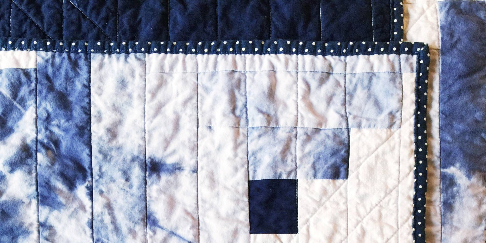 Finished Shibori Tie Dye Quilt!