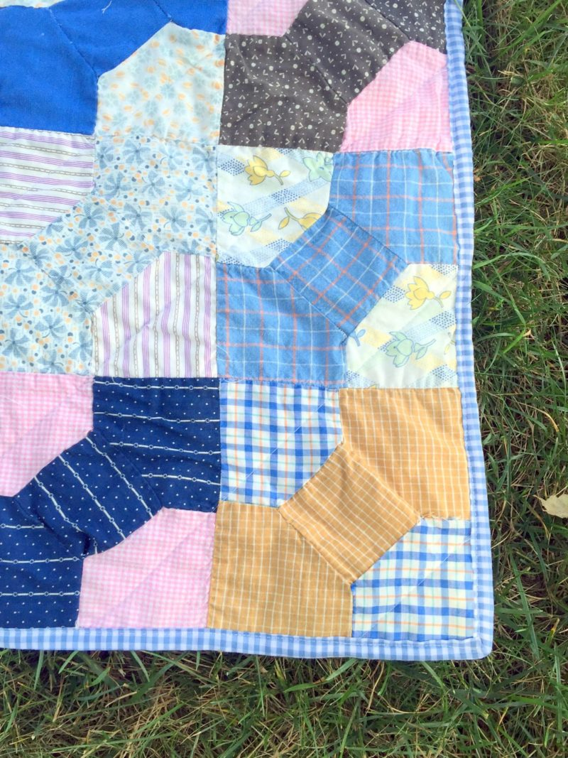 Repaired & Completed Vintage Quilt