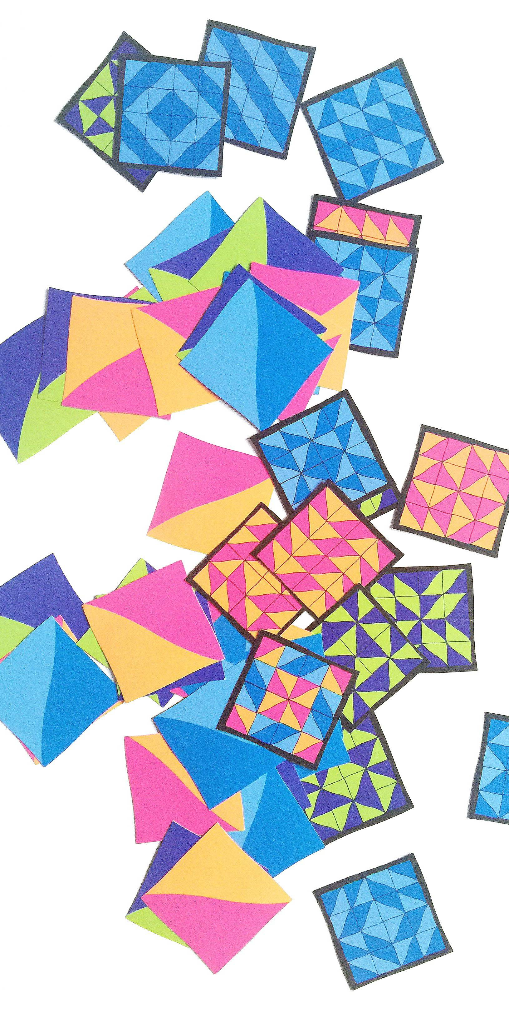 Flashback Friday: Klutz Quilting Fflashcards for half-square triangles