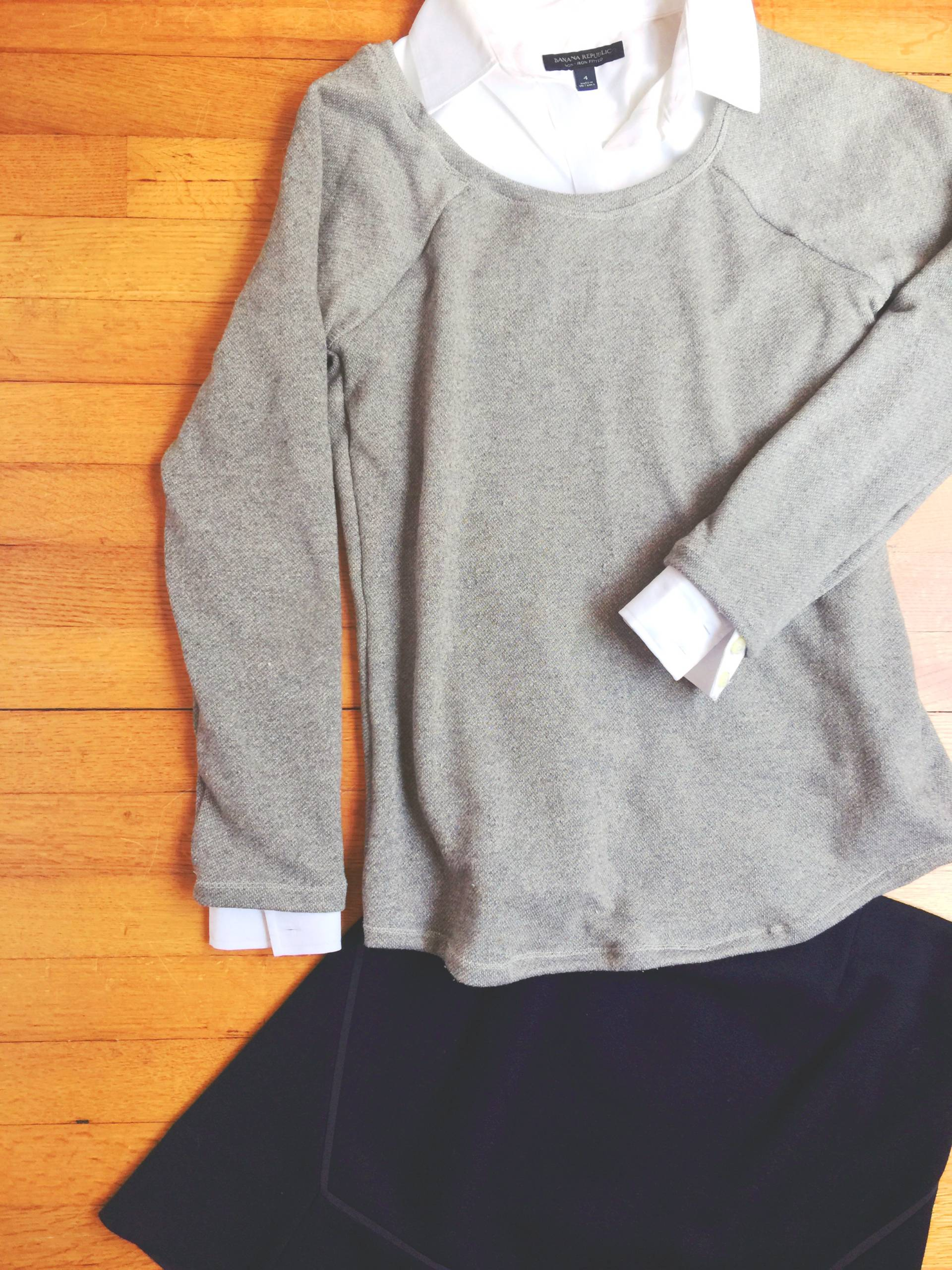 Lane Raglan using a shimmer metallic French Terry! Perfect for Fall!