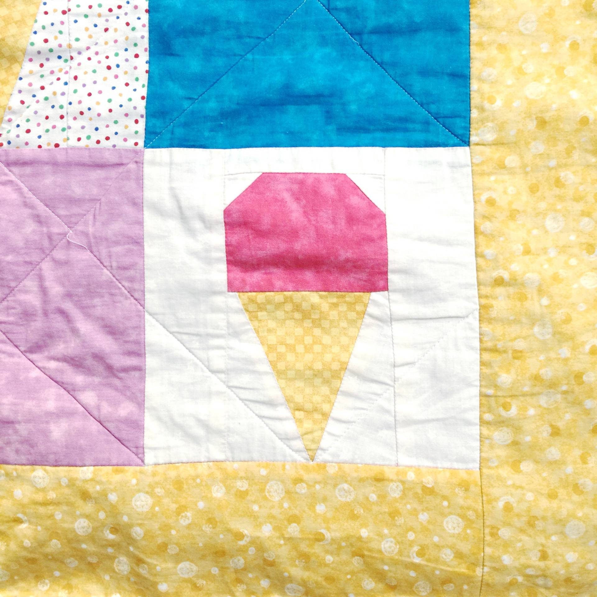 the first and second quilt i made used this ice cream cone pattern, and I still love it 10 years later!