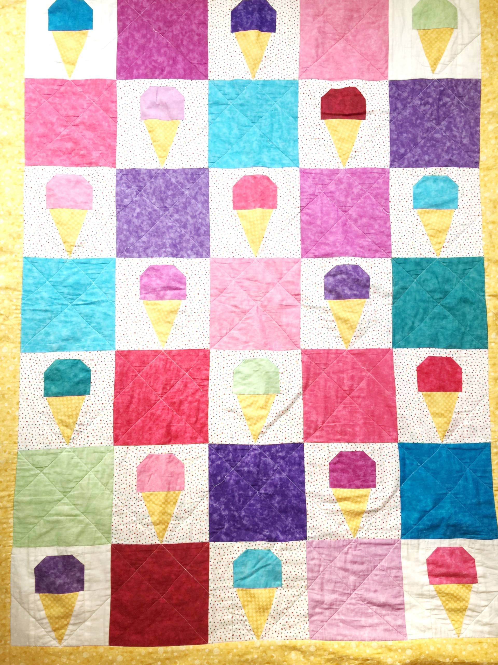 My first quilt every made (this one is technically my second quilt) and I still love this fun pattern