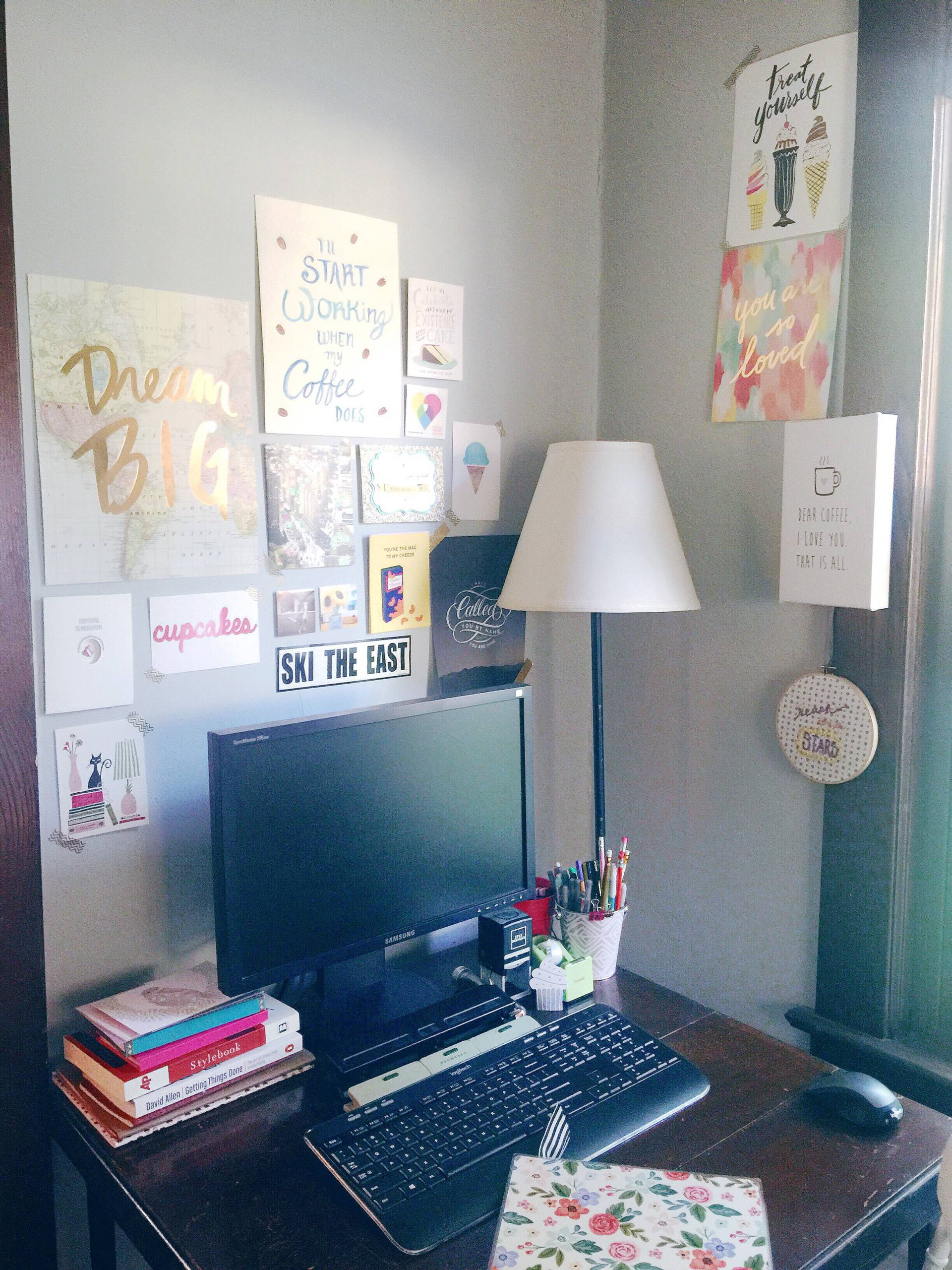 creative home office space for work-from-home freelancers