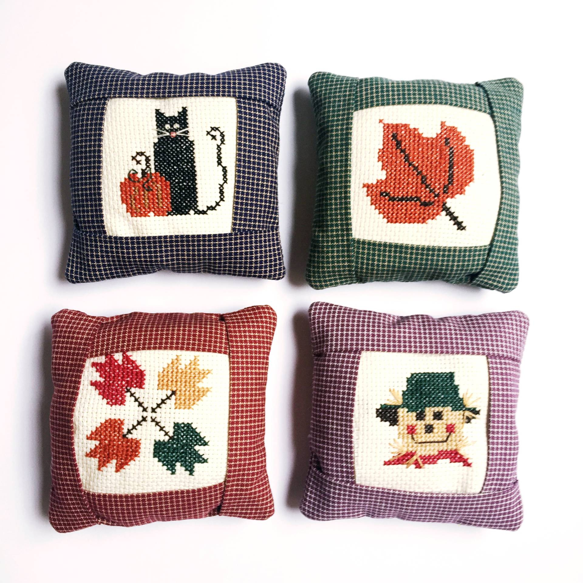 Flashback Friday cross stitch projects from when I was a kid! And, of course, perfect for fall!
