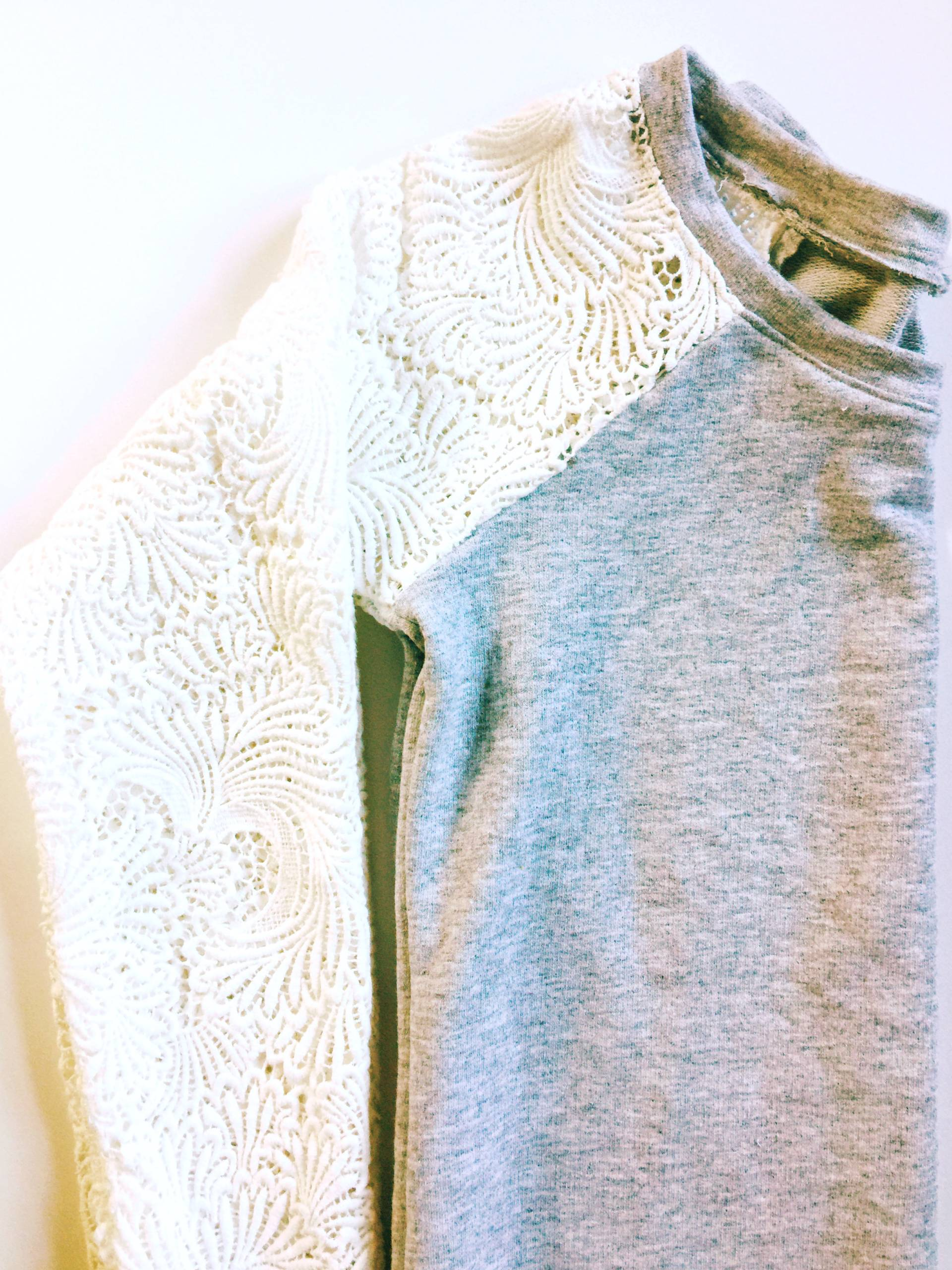 Lace Sleeved Lane Raglan by Mostly Sewing