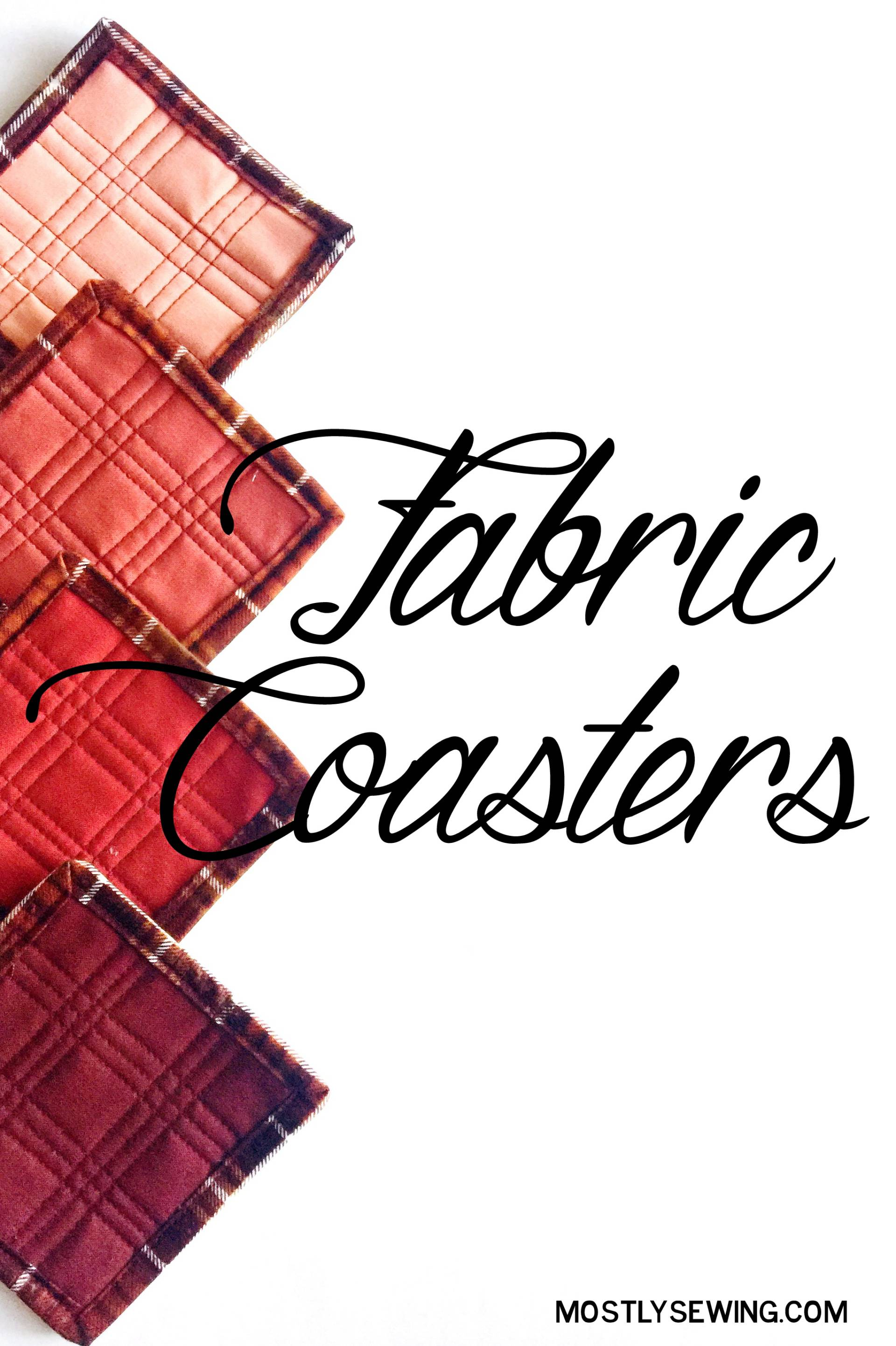 These fabric coasters are a great stash-buster and they make a perfect gift for the holidays!
