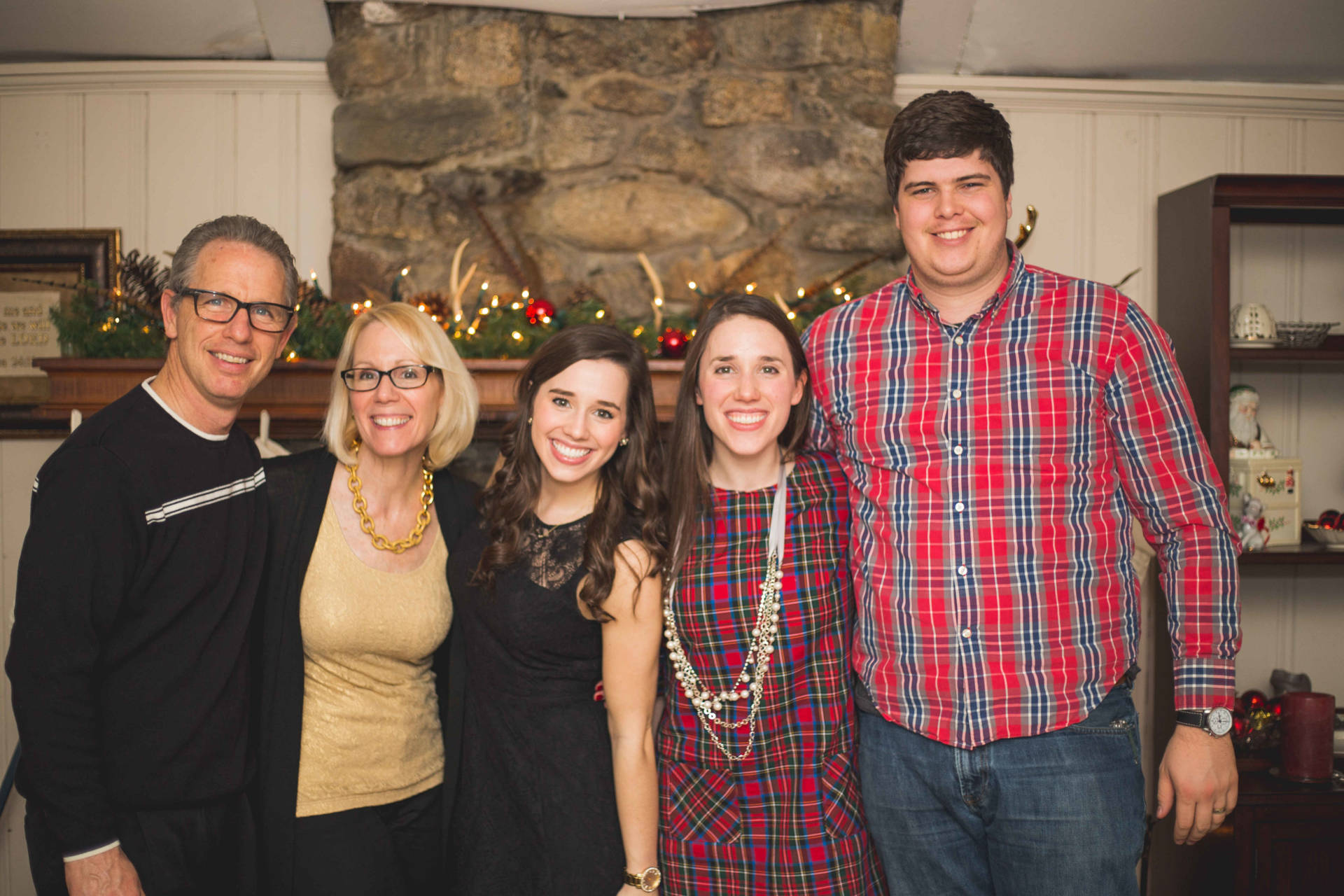 The Laurel Dress in Plaid - Family Photo! Christmas Eve 2015