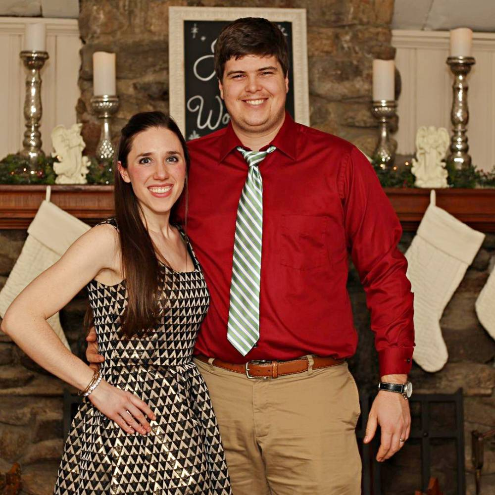 Simplicity 1873 Christmas Eve party dress with my husband!