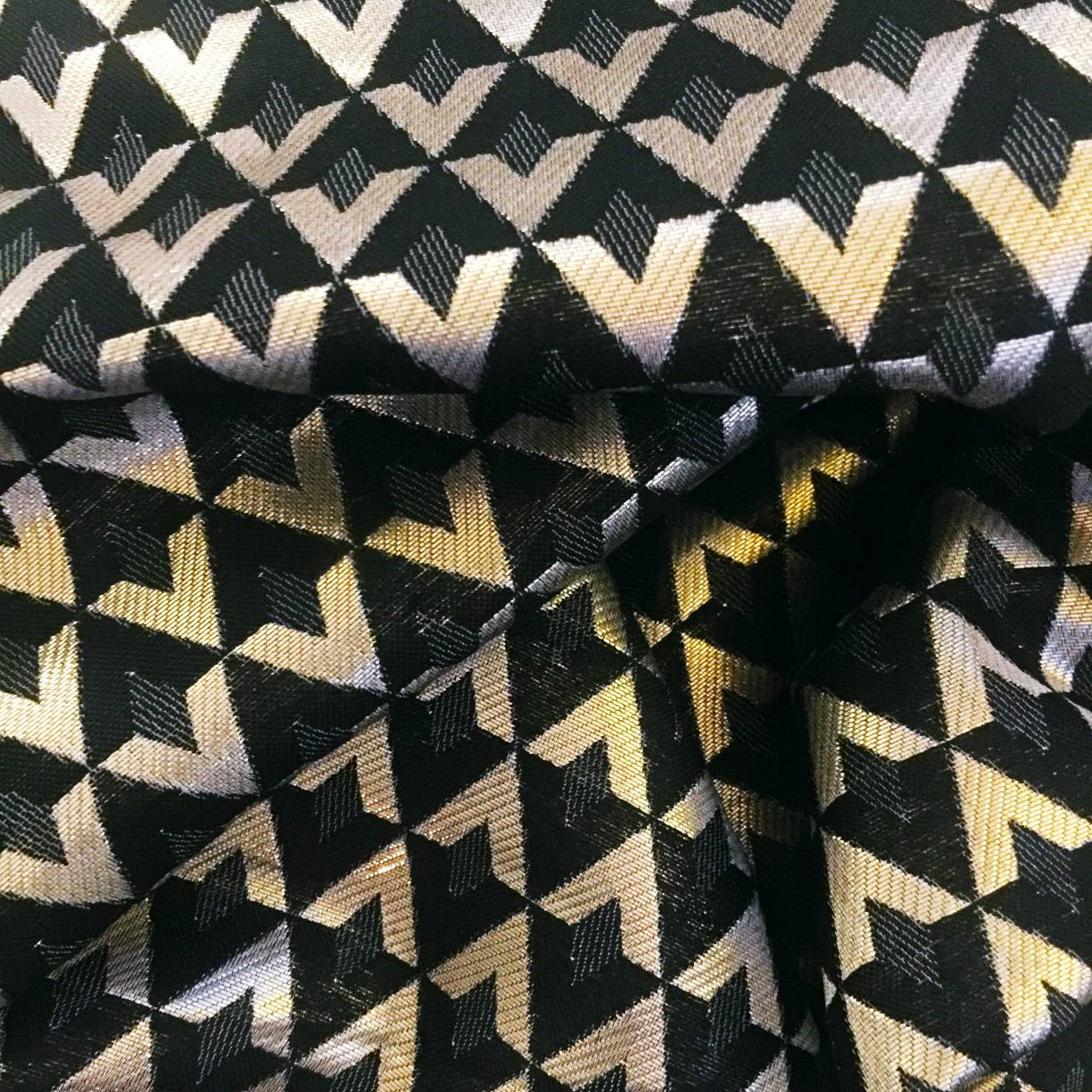 Gold and Black fabric from joann's fabric used in simplicity 1873