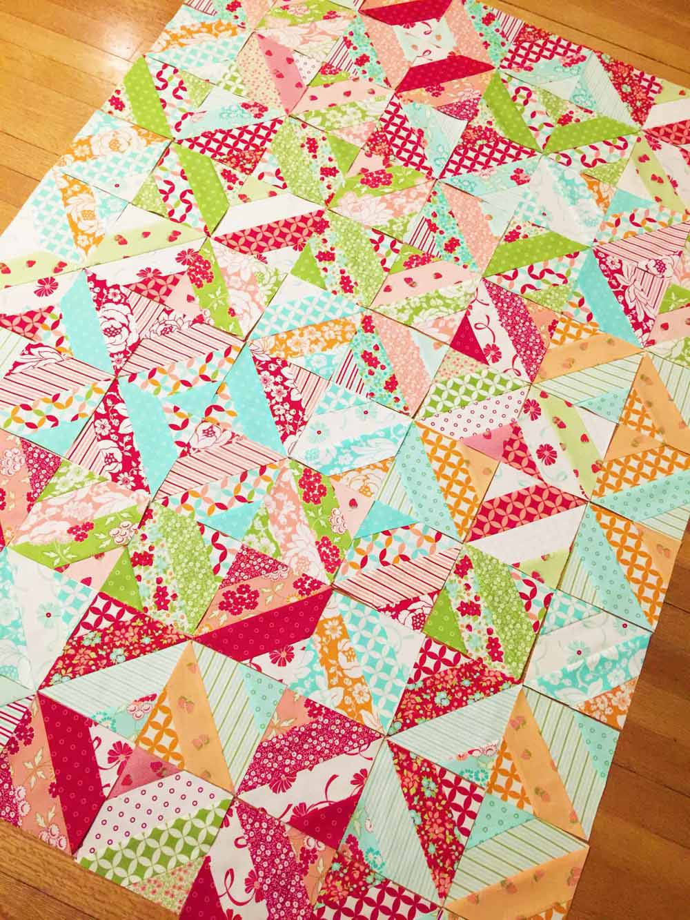 layout time for the garden trellis lap quilt jelly roll quilts by mostlySewing.com