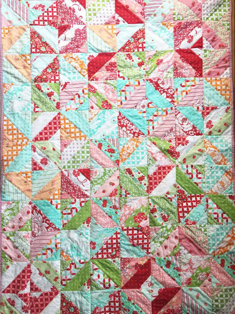 washed wrinkly the garden trellis lap quilt jelly roll quilts by mostlySewing.com