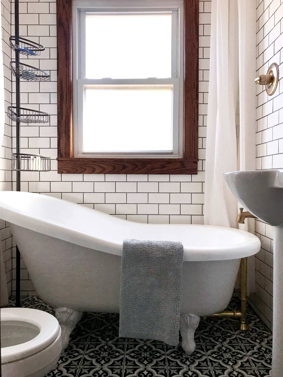Finished bathroom renovation in a 1920s lakehouse cottage